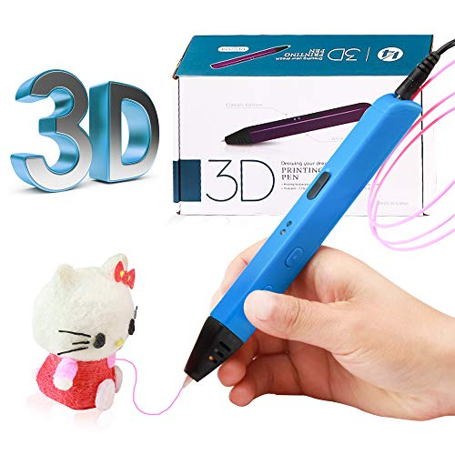 3D Drawing Pen /3D Pen/ 3D Printing Pen (Blue) with 3 PLA/ABS, Creative DIY Gift, Inspire Kids and Adults to Create 3D Art,… (Blue)