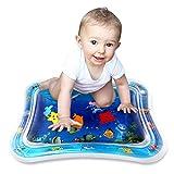 Alfombra Inflable con Agua, Simpeak 66x50cm inflable para Niños, Inflable de Agua para Bebé y Niños Pequños Actividad de Juego Bebé Playmats Juguete de Agua PVC Grueso - Azul