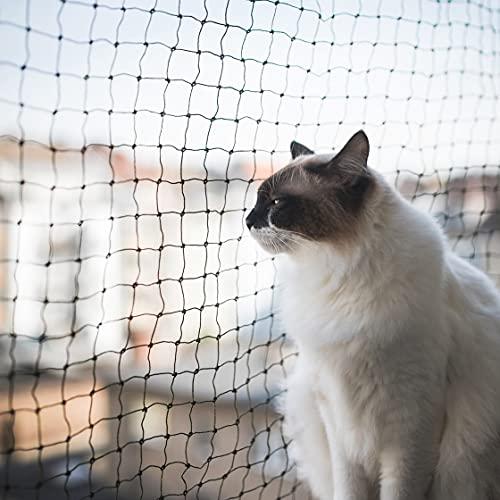 ALLEGRA Balkon Katzennetz !!!B-Ware MIT KLEINEN FEHLERN!!! Netz Schutznetz Katzengitter Schwarz 3x2m Katzenschutznetz Katze Fenster Balkonschutz Balkonnetz Katzen Sicherheitsnetz Katzenschutz