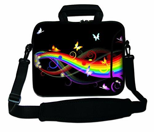 Ektor Ltd 12' Inches Design Laptop Notebook Sleeve Soft Case Bag With Handle and Shoulder Strap