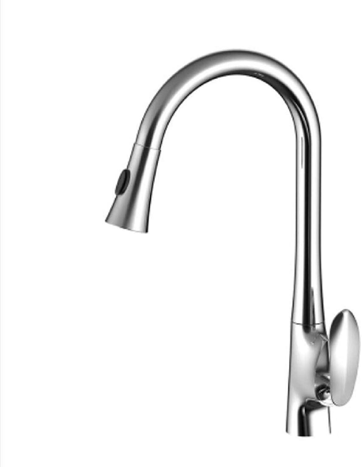 Kitchen Tap Copper Faucet Art Creative Pull-Out Scalable Kitchen Washpot Cold Tropical Flower Sprinkler Fashion Personal Faucet Kitchen Taps Kitchen Sink Mixer Taps Basin Tap