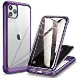 Diaclara iPhone 11 Pro Max Case with Built-in Tempered Glass Screen Protector [9H Hardness] [Heavy Duty Drop Protection] Full Body Cover Rugged Clear Bumper Case for iPhone 11 pro max