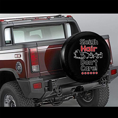 Meet You Schlitten Hair Dont Care wasserdichte Ersatzreifenabdeckung für Jeep RV SUV und viele Fahrzeuge