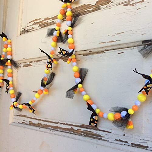 MALOLIK supplier for Halloween Decor- Candy Corn Chunky Bead String Garland #17-722/01 Home & garden