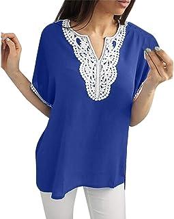 Camicia Girocollo Senza Maniche a Stampa Casuale a Pois con Scollo Tondo da Donna SANFASHION Bekleidung Gilet di Moda Estate 2019