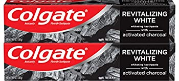 Colgate Activated Charcoal Toothpaste for Whitening Teeth with Fluoride Natural Mint Flavor Vegan 4.6 ounce  2 Pack