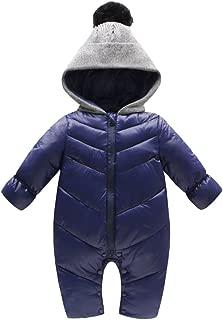 Unisex Baby Hooded Puffer Jacket Jumpsuit Winter Snowsuit Coat Romper