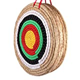 DOSTYLE Traditional Hand-Made Solid Straw Round Archery Target Shooting Bow Coloured Rope Target Face Five Layer for Recurve Bow Long Bow Compound Bows