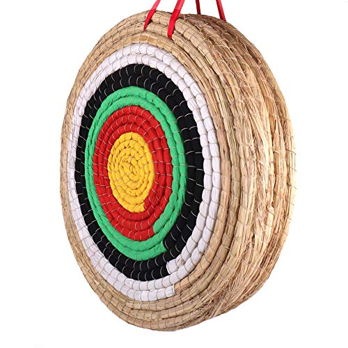Outdoor-shooter Traditional Archery Target Hand-Made 5 Layers Solid Straw Round Shooting Bow...
