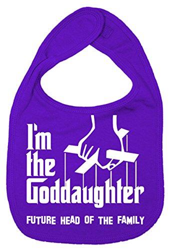 IIE Bavoir unisexe pour bébé avec inscription I'm The Goddaughter, Future Head of Family Violet