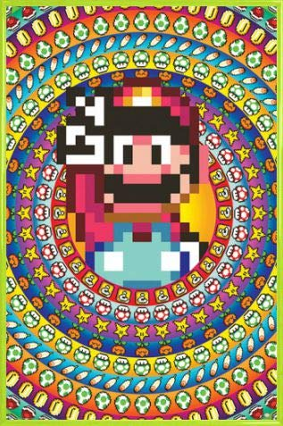1art1 Super Mario Poster Stampa e Cornice (Plastica) - Power ups (91 x 61cm)
