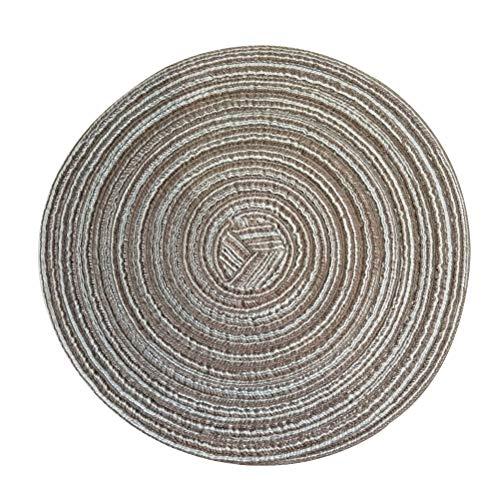 BESTONZON Coton rond de coton tissé Set de table Western Food Pad cuisine tapis de table de dessous de verre résistant à la chaleur antidérapant pour la table à manger café