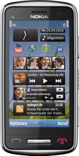 Nokia C6-01, cellulare argento sim-free