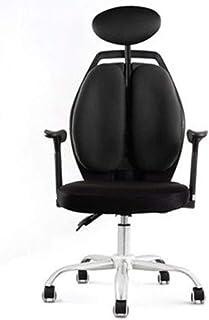Las sillas de Escritorio Silla giratoria Racing Lift Juego sintético Sillas de Internet Cafés Silla de la computadora de Mentira Presidente del hogar, ergonómico y cómodo Dlack turística