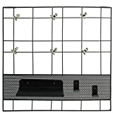 SIDCO Memoboard Büro Organizer Regal Pinnwand Wand Ablage Metall schwarz