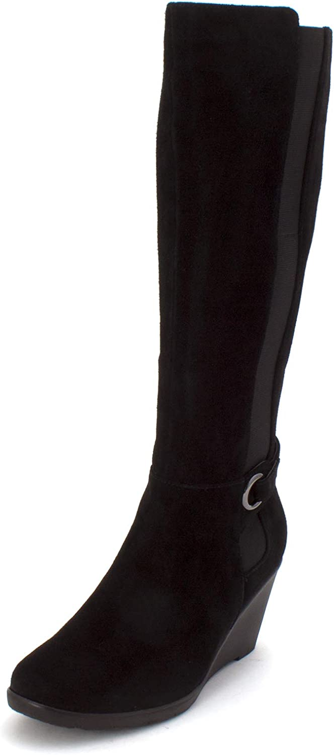 Aqua Womens Lucy Leather Almond Toe Knee High Fashion Boots