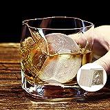 Vasos de cristal clásicos, jarra de cerveza personalizada, vaso giratorio, modelo Ice, buen set de regalo para un conocedor de whisky, 300 ml-style1