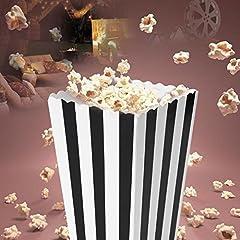 LULAA ポップコーンボックス 紙袋 ストライプ柄 お菓子 キャンディー容器  映画館 パーティー 学園祭 ピクニック バーベキュー  4色 12個