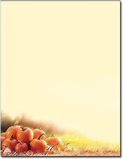 Glistening Pumpkins Autumn Letterhead Flyer Paper - 80 Sheets