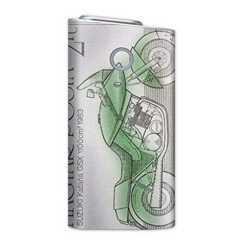 glo グロー グロウ 専用スキンシール 裏表2枚セット カバー ケース 保護 フィルム ステッカー デコ アクセサリー 電子たばこ タバコ 煙草 喫煙具 デザイン おしゃれ glow 乗り物 バイク 切手 010334