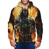 Disturbed Indestructible Hoodie Men Athletic Fit Full Zip Fleeces Cool Pullover Sweatshirt Jacket Coat Black