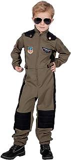 Schwarz Weiß Piloten Kostüm Lukas für Kinder Flugzeug Flieger Verkleidung