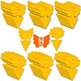 96PCS Fruit Fly Sticky Traps, Fungus Gnat Traps Insect Trap for Plants Kitchen Indoor and Outdoor