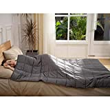 CuteKing Weighted Blanket 60x80 Inches for Queen or Full Size Bed, 20lbs for Individual Between 150-200lbs, 100% Oeko-Tex Certified Cotton with Glass Beads for Adult, Dark Grey