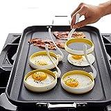 housesweet 2pcs anneau œuf pancake moule à bague poignées antiadhésive poêle à frire omelette