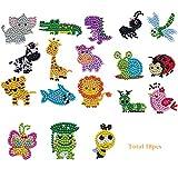 CASEYDRESS Diamond Painting Kits for Kids, 5D Full Drill Animals Paint with Diamonds Dotz Art Crafts, Small Easy Children Gem Mosaic Stickers(18Piece)