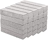 Hatoku 25 Pieces Pumice Stones for Cleaning Grey Pumice Scouring Pad Pumice Stick Cleaner for Removing Toilet Bowl Ring, Bath, Kitchen, Pool, Household Cleaning (5.9 x 1.4 x 0.9 Inches)