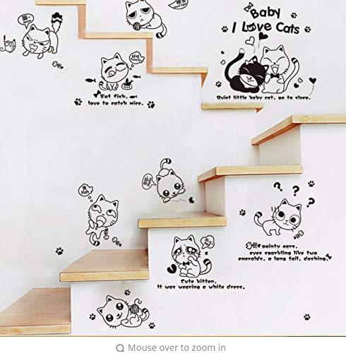 Preisvergleich Produktbild Zjxxm Heiße Art Beliebte Außenhandel Neue Reine Farbe Und Schöne Freche Katze Wand Cartoon,  Die Die Haus Dekorative Wandaufkleber Besetzen