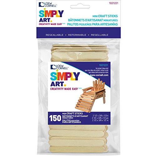 Loew-Cornell Simply Art Wood Mini Craft Sticks 150 ct.