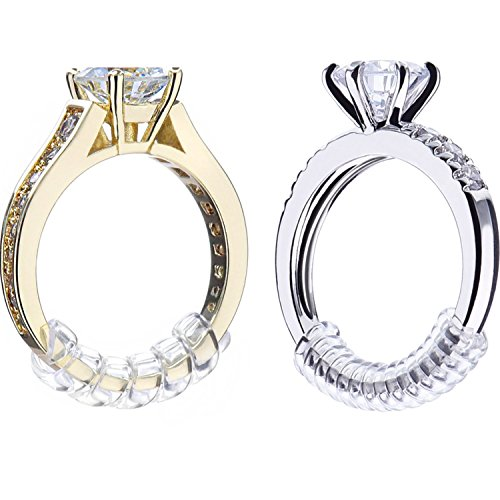 Pangda 8 Stück Ring Sizer Adjuster Ring Guard mit Schmuck Poliertuch für Lose Ringe, 2 Größe, 2 mm/ 3 mm