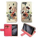 starz mobiles accessoires Gigaset GS370 - PU Leder Tasche Hülle/TPU Schutz Handytasche (Butterfly)