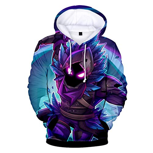 3D Printed Unisex Hooded Novelty Battle Royale Hoodie Pullover Sweatshirts with Pockets for Youth Men Women Boys Girls (Blue Mark Person,M)