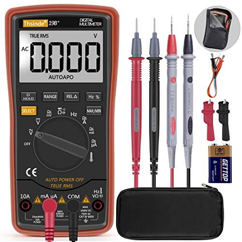 Autoranging Multimeter Test for Temperature AC/DC Voltage, Current, Resistance, Continuity, Capacitance, Frequency,Diodes Transistors