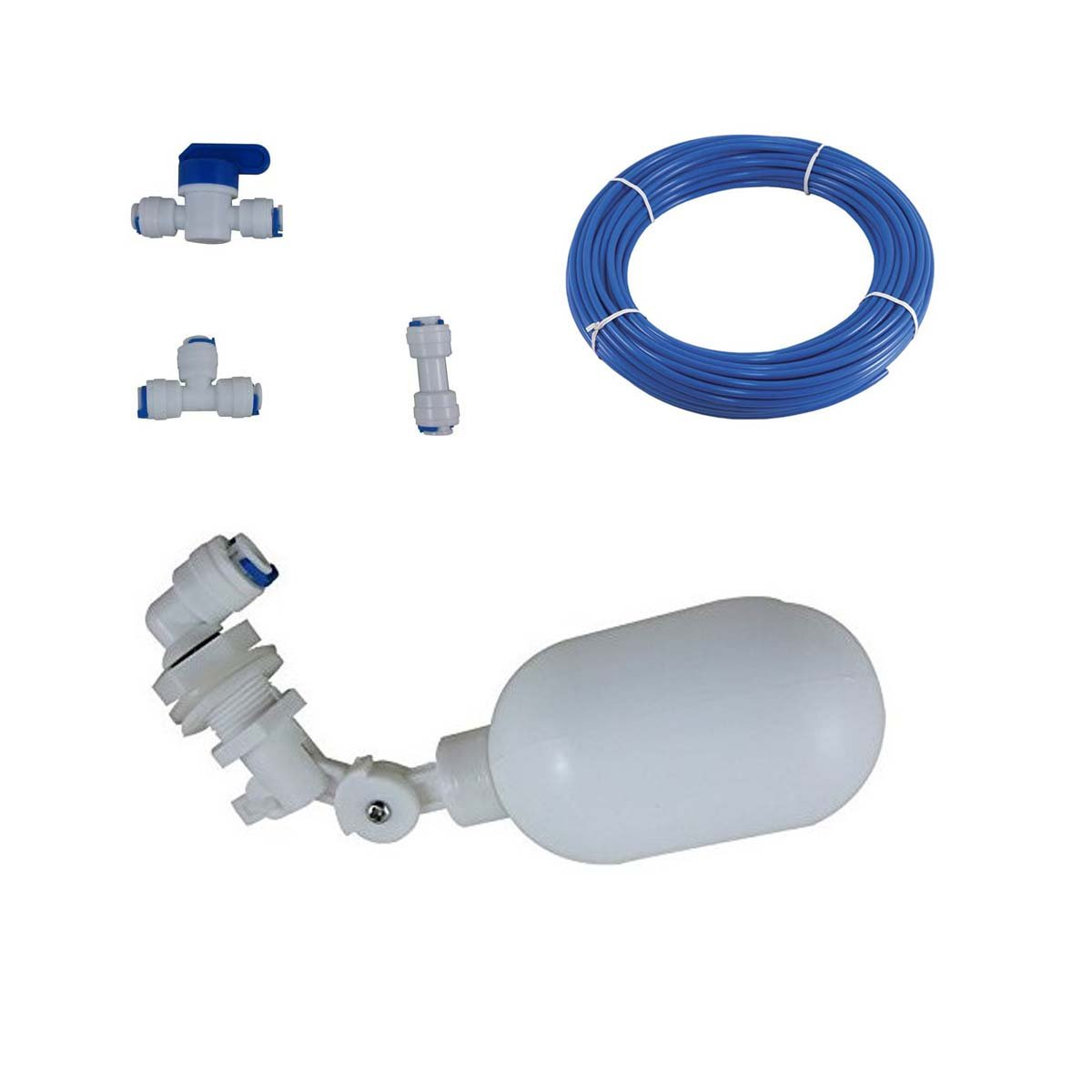 Malida 1//4 Tube Float Valve Kit for RO Water Reverse Osmosis System water filter Push to Connect Pipe Hose Tube Fittings