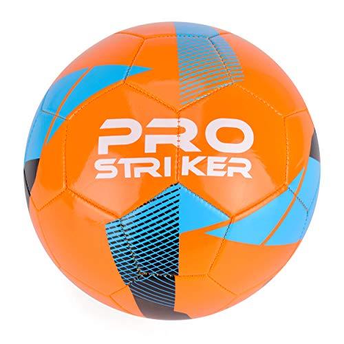 Pallone da calcio Pro Striker., Unisex - Adulto, Pallone da calcio, B318, Arancione e nero, 5