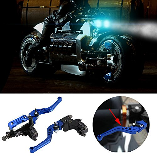 CNCMOTOK Black Folding Aluminum Clutch Brake Lever for 22mm 7//8 inch Handlebar 110cc 125cc 140cc TTR 125cc SSR Xmotos Apollo 125 Pit Dirt Bike Motorcycle