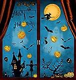 Yuson Girl 8 Hojas Halloween PegatinasVinilos Para Ventanas Pegatinas Engomada de La Ventana de La Calabaza de la Bruja del Castillo para la Decoración Del Hogar Del Partido de la Fiesta de Halloween