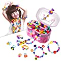 Pop Beads, Jewelry Making Kit - Arts and Crafts for Girls Age 3, 4, 5, 6, 7 Year Old Kids Toys - Hairband Necklace Bracelet and Ring Creativity DIY Set | Ideal Christmas Birthday Gifts (520 PCS)