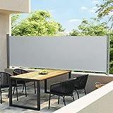 vidaXL Toldo Lateral Retráctil para Patio Separador Jardín Terraza Balcón Pantalla Solar Viento Enrollable Función...