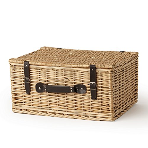 Empty Extra Large 20' Lidded Wicker Hamper Basket