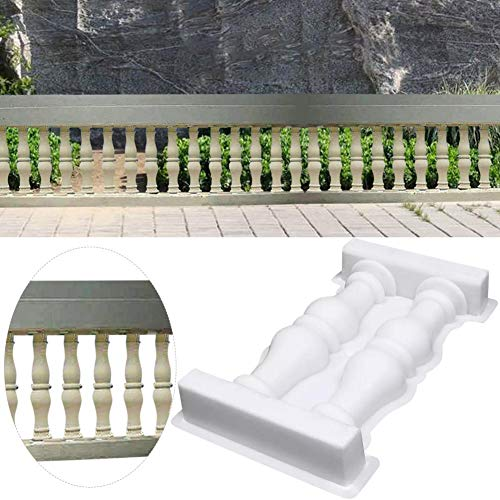 Römische Säule Kunststoffform Doppelvase Säule Zaunform, Zement Geländer Gips Beton DIY Handwerk Hausgarten Ornament Dekor