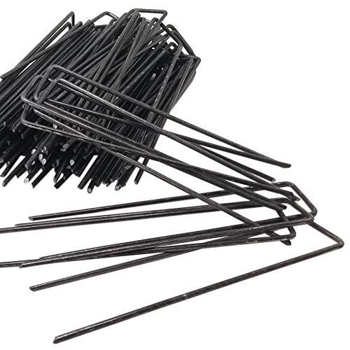ToCi 100 Stück Erdanker 150 x 25 mm - Stahldraht, Ø 3 mm - Bodenanker zur Befestigung von Unkrautvlies, Folien, Schläuchen