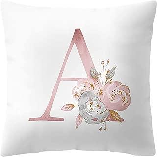 TOPBIGGER English Alphabet Pillowcases Kids Room Decoration Letter Pillow Super Soft Plush Pillowcase Sofa Pad Set for Sofa Bedroom Car