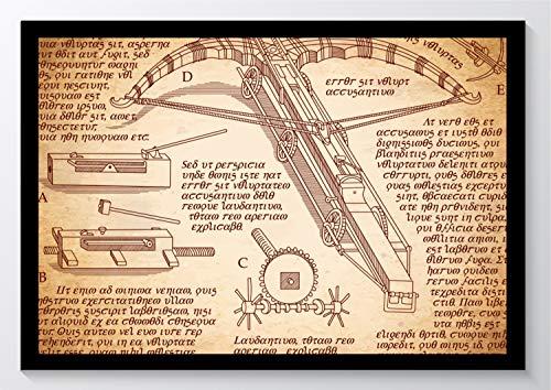 Da Vinci Bauplan Armbrust Kunstdruck Poster ungerahmt Bild DIN A4 A3 K0939 Größe A4