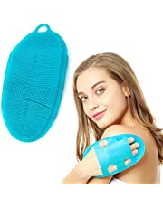 INNERNEED Soft Silicone Body Scrubber Exfoliating Glove Shower Cleansing Brush, SPA Massage Skin Care Tool, for Sensitive and all Kinds of Skin