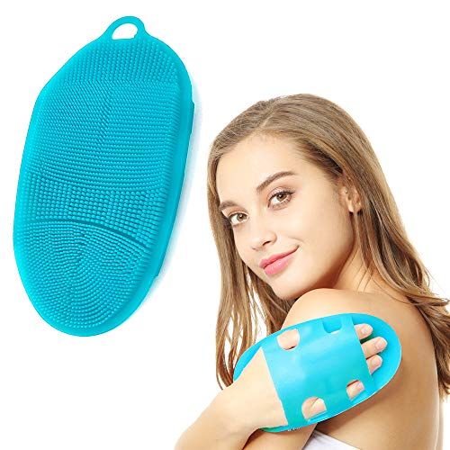 INNERNEED Soft Silicone Body Scrubber Exfoliating Glove Shower Cleansing Brush, SPA Massage...